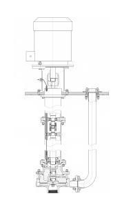 Полупогружной насосный агрегат