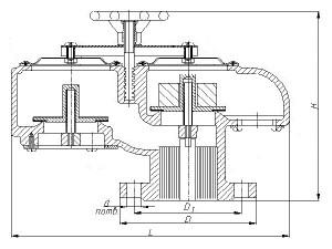 Совмещенный механический дыхательный клапан СМДК