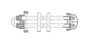 Аппарат теплообменный типа труба в трубе