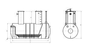 Емкость подземная ЕПП (с подогревателем)